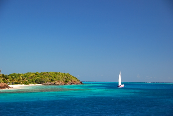 Pretty in Pink in the Tobago Cays...